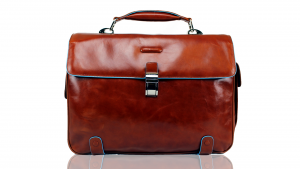 Sac business Piquadro Blue square CA1066B2 ARANCIO