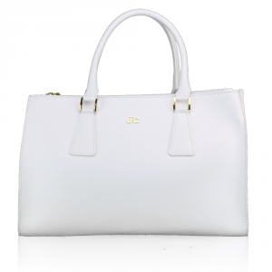 Hand and shoulder bag J&C JackyCeline  B301-14 002 WHITE