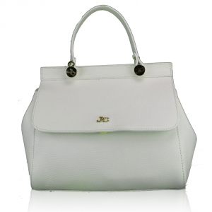 Hand and shoulder bag J&C JackyCeline  BO1601DOL 002 WHITE