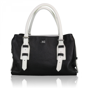 Hand and shoulder bag J&C JackyCeline  B107-01 NERO-BIANCO