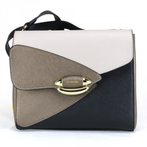 Shoulder bag Cromia LUXURY 1403445 NERO+BEIGE+BRONZO