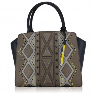 Hand and shoulder bag Cromia PERLA DIAMOND 1403396 BRONZO