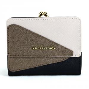 Woman wallet Cromia LUXURY 2690594 NERO+BEIGE+BRONZO