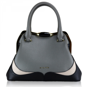 Hand and shoulder bag Cromia WAVE 1403424 POLVERE+BEIGE+NERO