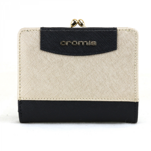 Woman wallet Cromia IT SAFFIANO 2690649 NERO+ORO