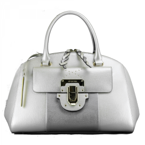 Hand and shoulder bag Cromia MELANIA 1403695 PLATINO+ARGENTO