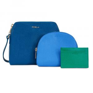 Shoulder bag Furla BOHEME 943603 BLU PAVONEd+CELESTEc+SMERALDOd