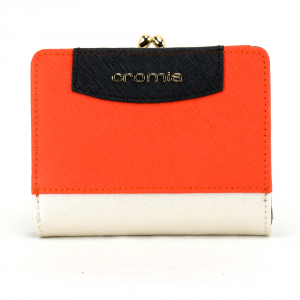 Woman wallet Cromia IT SAFFIANO 2690649 PLATINO+VERMIGLIO