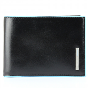 Man Wallet Piquadro BLUE SQUARE PU257B2 NERO