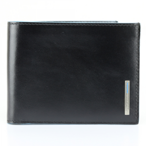 Man Wallet Piquadro BLUE SQUARE PU1241B2 Nero