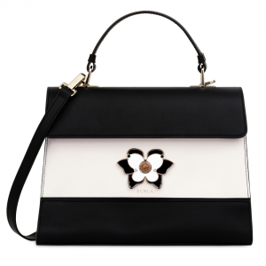 Hand and shoulder bag Furla ALTEA 961605 ONYX+PETALO