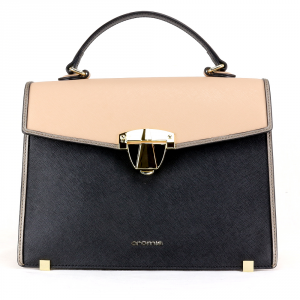 Hand and shoulder bag Cromia ABBY 1403949 NERO+NUDE