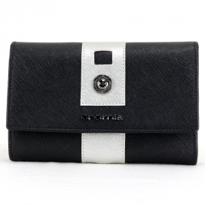 Woman wallet Cromia GLORIA 2620732 NERO+SILVER