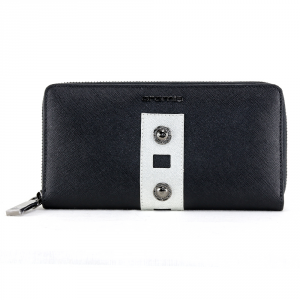 Woman wallet Cromia GLORIA 2640734 NERO+SILVER