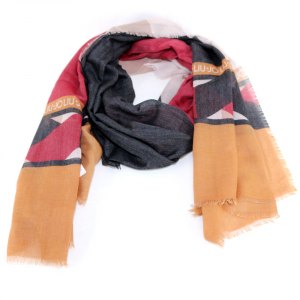 Scarf Liu Jo COLOR BLOCK N68311 T0300 CUOIO