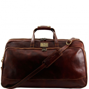 Tuscany Leather TL3067 Bora Bora - Trolley leather bag - Large size Brown