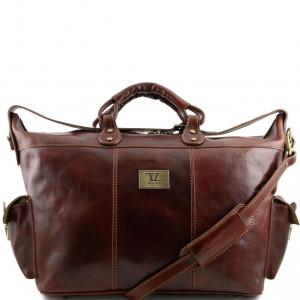 Tuscany Leather TL140938 Porto - Borsa da viaggio in pelle Marrone