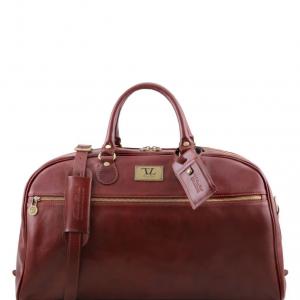 Tuscany Leather TL141422 TL Voyager - Borsa da viaggio in pelle - Misura grande Marrone