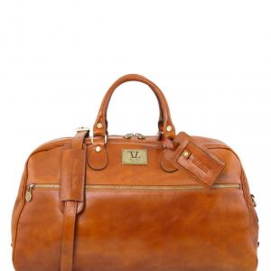 Tuscany Leather TL141422 TL Voyager - Borsa da viaggio in pelle - Misura grande Miele