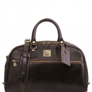 Tuscany Leather TL141405 TL Voyager - Borsa da viaggio in pelle - Misura piccola Testa di Moro