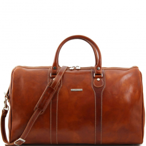 Tuscany Leather TL1044 Oslo - Travel leather duffle bag - Weekender bag Honey