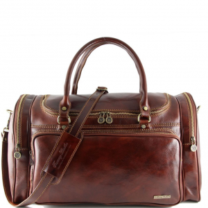 Tuscany Leather TL1048 Praga - Sac de voyage en cuir Marron