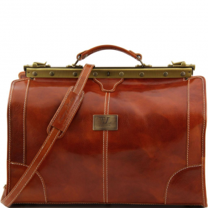 Tuscany Leather TL1023 Madrid - Gladstone Leather Bag - Small size Honey