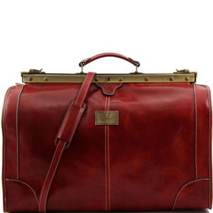 Tuscany Leather TL1022 Madrid - Sac de voyage en cuir - Grand modèle Rouge