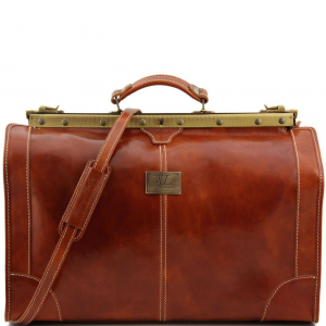 Tuscany Leather TL1022 Madrid - Gladstone Leather Bag - Large size Honey