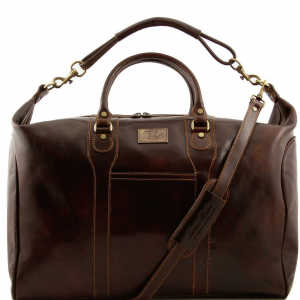 Tuscany Leather TL1049 Amsterdam - Travel leather weekender bag Dark Brown