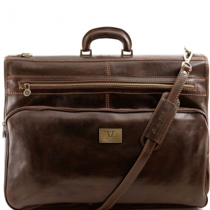 Tuscany Leather TL3056 Papeete - Garment leather bag Dark Brown