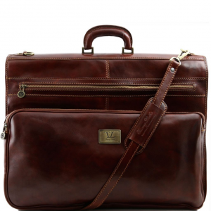 Tuscany Leather TL3056 Papeete - Garment leather bag Brown