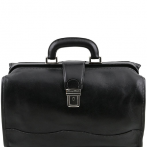 Tuscany Leather TL10077 Raffaello - Borsa medico in pelle Nero