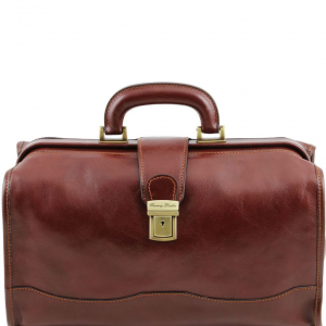 Tuscany Leather TL10077 Raffaello - Doctor leather bag Brown