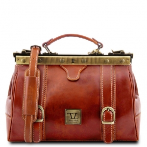 Tuscany Leather TL10034 Monalisa - Doctor gladstone leather bag with front straps Honey