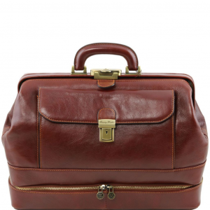 Tuscany Leather TL141297 Giotto - Exclusive double-bottom leather doctor bag Brown
