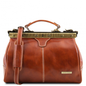 Tuscany Leather TL10038 Michelangelo - Doctor gladstone leather bag Honey