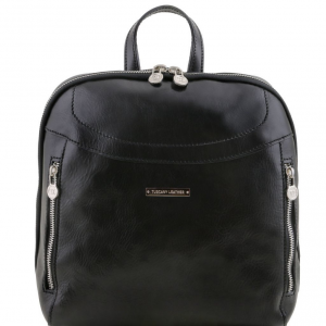Tuscany Leather TL141557 Manila - Leather backpack Black