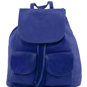 Tuscany Leather TL141508 Seoul - Leather backpack Small size Blue