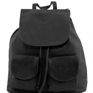 Tuscany Leather TL141508 Seoul - Leather backpack Small size Black