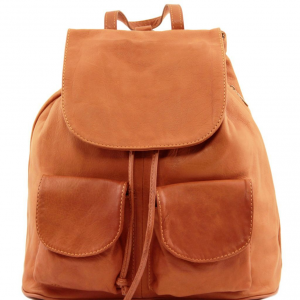 Tuscany Leather TL141507 Seoul - Leather backpack Large size Cognac