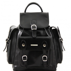 Tuscany Leather TL9052 Pechino - Leather Backpack Black