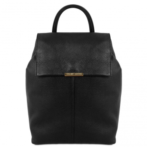 Tuscany Leather TL141706 TL Bag - Soft leather backpack for women Black