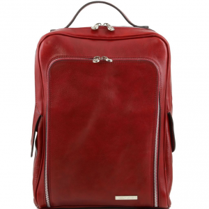 Tuscany Leather TL141289 Bangkok - Zaino porta notebook in pelle Rosso