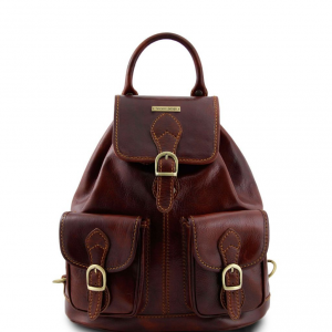 Tuscany Leather TL9035 Tokyo - Leather Backpack Brown