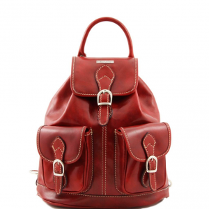 Tuscany Leather TL9035 Tokyo - Sac à dos en cuir Rouge