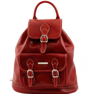 Tuscany Leather TL9039 Singapore - Leather - Backpack Red