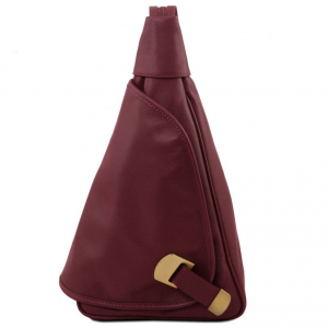 Tuscany Leather TL140966 Hanoi - Leather backpack Bordeaux