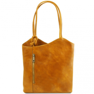 Tuscany Leather TL141497 Patty - Leather convertible bag Yellow