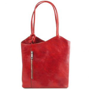 Tuscany Leather TL141497 Patty - Sac en cuir convertible en sac à dos Rouge